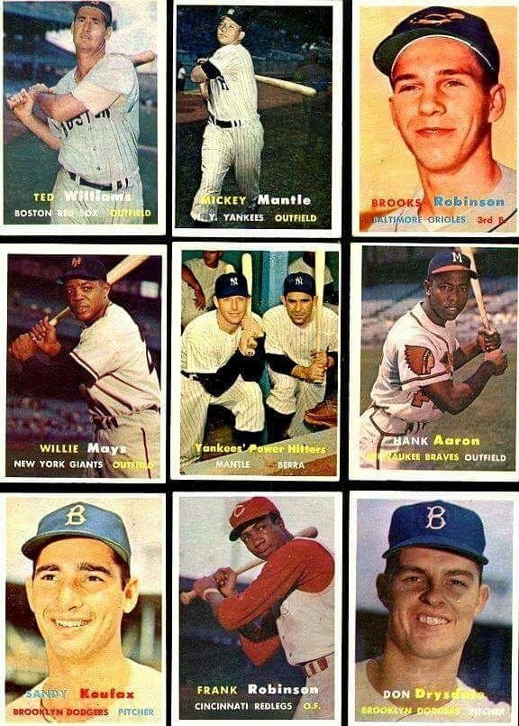ALL STARS FROM TH E60S BASEBALL CARDS