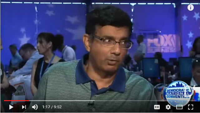 D'SOUZA AT DNC CONVENTION